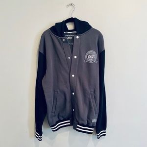 Vans Letterman Button-Up Hooded Sweatshirt